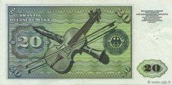 20 Deutsche Mark ALLEMAGNE  1960 P.020a TTB+