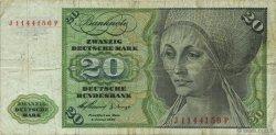 20 Deutsche Mark ALLEMAGNE FÉDÉRALE  1960 P.20a TB
