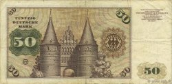 50 Deutsche Mark ALLEMAGNE  1960 P.021a pr.TTB