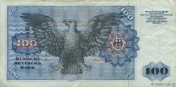 100 Deutsche Mark ALLEMAGNE FÉDÉRALE  1960 P.22a pr.TTB
