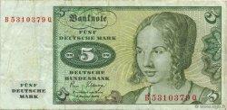 5 Deutsche Mark ALLEMAGNE FÉDÉRALE  1980 P.30b TTB