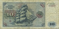 10 Deutsche Mark ALLEMAGNE  1970 P.031a TB