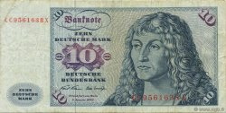 10 Deutsche Mark GERMAN FEDERAL REPUBLIC  1970 P.31a BB