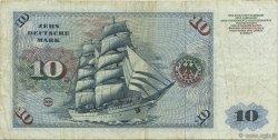10 Deutsche Mark ALLEMAGNE  1970 P.031a TTB