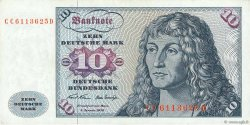 10 Deutsche Mark ALLEMAGNE FÉDÉRALE  1970 P.31a TTB+