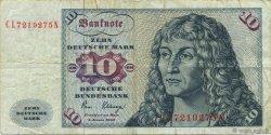 10 Deutsche Mark ALLEMAGNE FÉDÉRALE  1980 P.31d TB