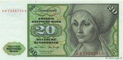 20 Deutsche Mark ALLEMAGNE FÉDÉRALE  1970 P.32a pr.NEUF