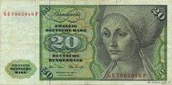 20 Deutsche Mark ALLEMAGNE FÉDÉRALE  1970 P.32a TTB