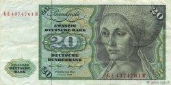 20 Deutsche Mark ALLEMAGNE  1970 P.032a TTB+