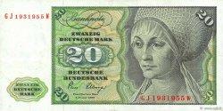 20 Deutsche Mark ALLEMAGNE FÉDÉRALE  1980 P.32d TTB