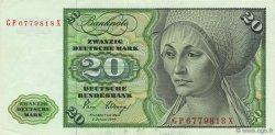 20 Deutsche Mark ALLEMAGNE  1980 P.032d SUP