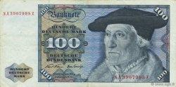 100 Deutsche Mark ALLEMAGNE FÉDÉRALE  1970 P.34a TTB