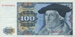 100 Deutsche Mark ALLEMAGNE FÉDÉRALE  1980 P.34d SUP