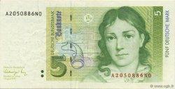5 Deutsche Mark ALLEMAGNE FÉDÉRALE  1991 P.37 SUP