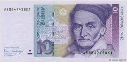 10 Deutsche Mark ALLEMAGNE FÉDÉRALE  1989 P.38a SPL