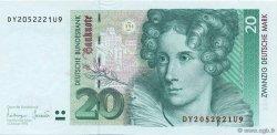20 Deutsche Mark ALLEMAGNE  1993 P.039b pr.NEUF