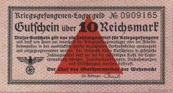 10 Reichsmark ALLEMAGNE  1939 R.521 SUP