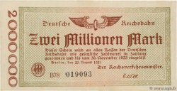 2 Millions Mark ALLEMAGNE  1923 PS.1012a SUP+