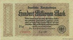 100 Millions Mark ALLEMAGNE  1923 PS.1017a TTB+