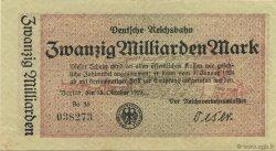 20 Milliards Mark ALLEMAGNE  1923 PS.1022 TTB