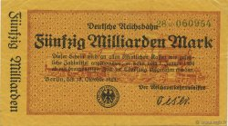 50 Milliards Mark ALLEMAGNE  1923 PS.1023 SUP+