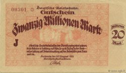 20 Millions Mark ALLEMAGNE  1923 PS.1270 SUP+