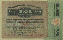 1,05 Goldmark ALLEMAGNE Wetzlar 1923 Mul.5105 pr.NEUF