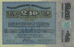 2,10 Goldmark ALLEMAGNE Wetzlar 1923 Mul.5105 pr.NEUF