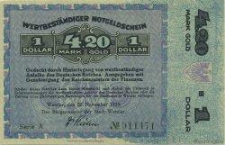 4,20 Goldmark ALLEMAGNE Wetzlar 1923 Mul.5105 pr.NEUF