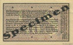 0,10 Dollar ALLEMAGNE  1923 Mul.0420s pr.NEUF