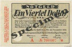 1/4 Dollar ALLEMAGNE  1923 Mul.0420s pr.NEUF