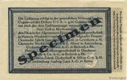 3 Dollars ALLEMAGNE Biebrich 1923 Mul.0420s pr.NEUF