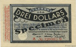 3 Dollars ALLEMAGNE  1923 Mul.0420s SUP