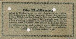 1 Goldmark ALLEMAGNE  1923 Mul.2525.1 SUP