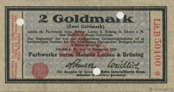 2 Goldmark ALLEMAGNE  1923 Mul.2525.4a SPL