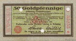 50 Goldpfennige ALLEMAGNE  1923 Mul.2525.8 SUP