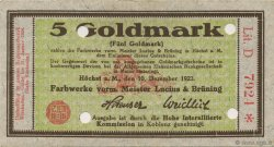 5 Goldmark ALLEMAGNE Hochst 1923 Mul.2525.11 SUP+