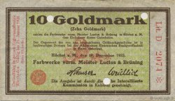 10 Goldmark  GERMANY Hochst 1923 Mul.2525.12