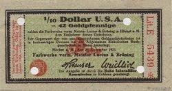 1/10 Dollar ALLEMAGNE Hochst 1923 Mul.2525.13 pr.NEUF