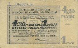 4,20 Mark Gold ALLEMAGNE  1923 Mul.3155.5a TTB