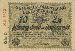 10 Pfennig Gold ALLEMAGNE Karlsruhe 1923 Mul.2725.3 SPL