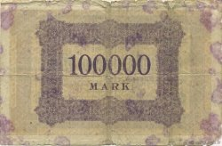 100000 Mark ALLEMAGNE Aachen - Aix-La-Chapelle 1923  B