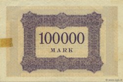 100000 Mark ALLEMAGNE Aachen - Aix-La-Chapelle 1923  TTB+