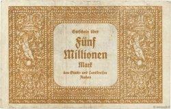 5 Millions Mark ALLEMAGNE Aachen - Aix-La-Chapelle 1923  TTB