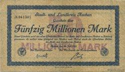 50 Millions Mark ALLEMAGNE Aachen - Aix-La-Chapelle 1923  TTB
