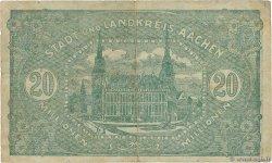 20 Millions Mark ALLEMAGNE Aachen - Aix-La-Chapelle 1923  TB+