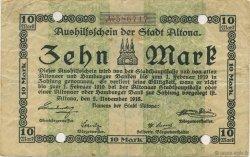 10 Mark ALLEMAGNE Altona 1918  TTB