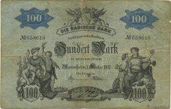 100 Mark ALLEMAGNE Mannheim 1902 PS.0905 TB