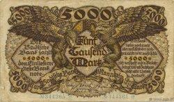 5000 Mark ALLEMAGNE Mannheim 1922 PS.0909 pr.TTB