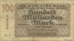 100 Milliards Mark ALLEMAGNE  1923 PS.0914 TB+